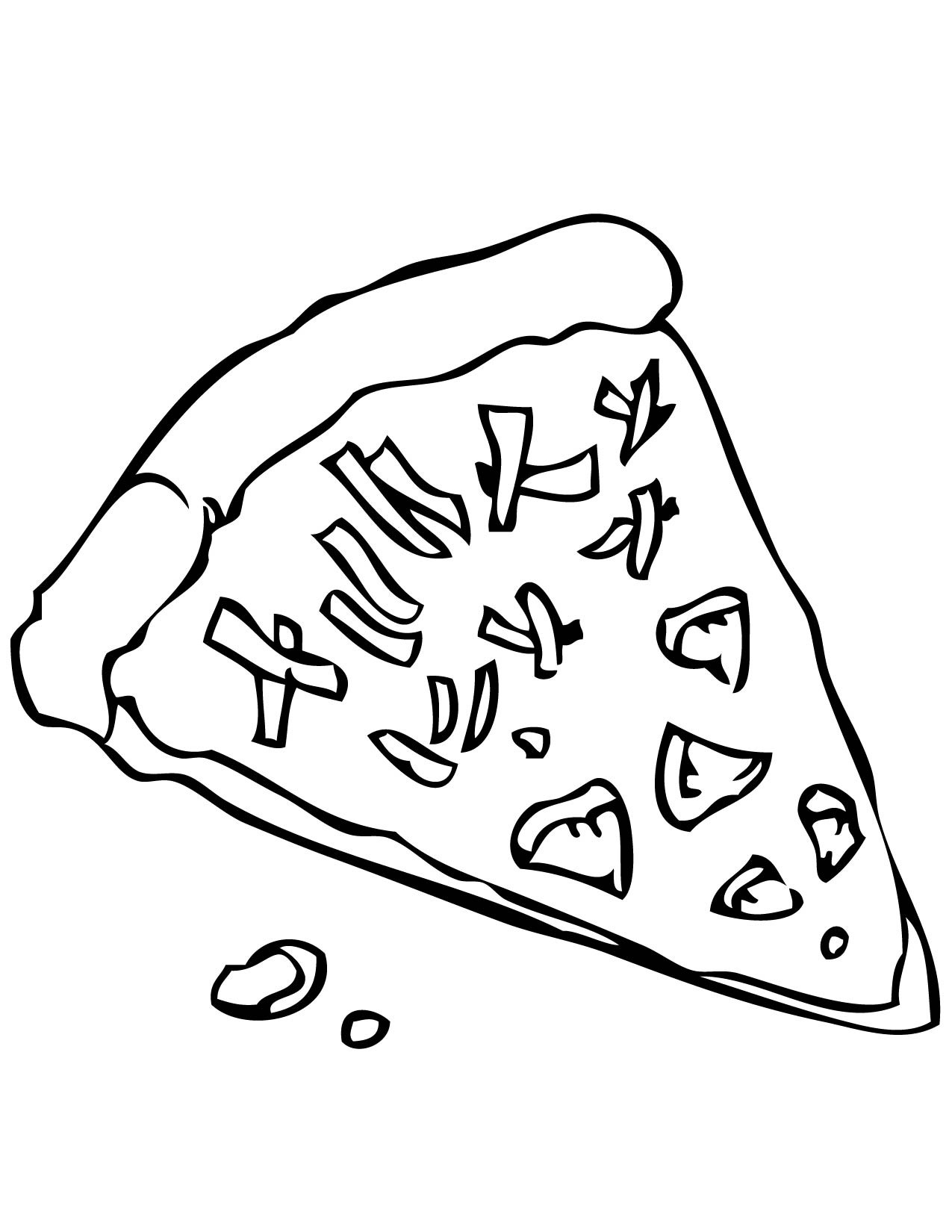 1275x1650 Pizza Steve Coloring Page Free Draw To Color