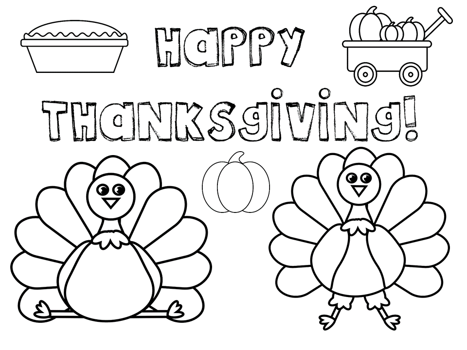 960x720 Thanksgiving Coloring Pages Free Printables!