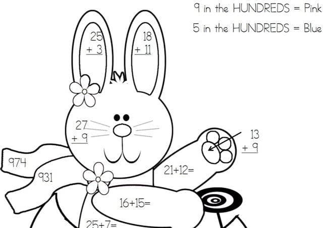 650x452 Place Value Easter Bunny Color By Code