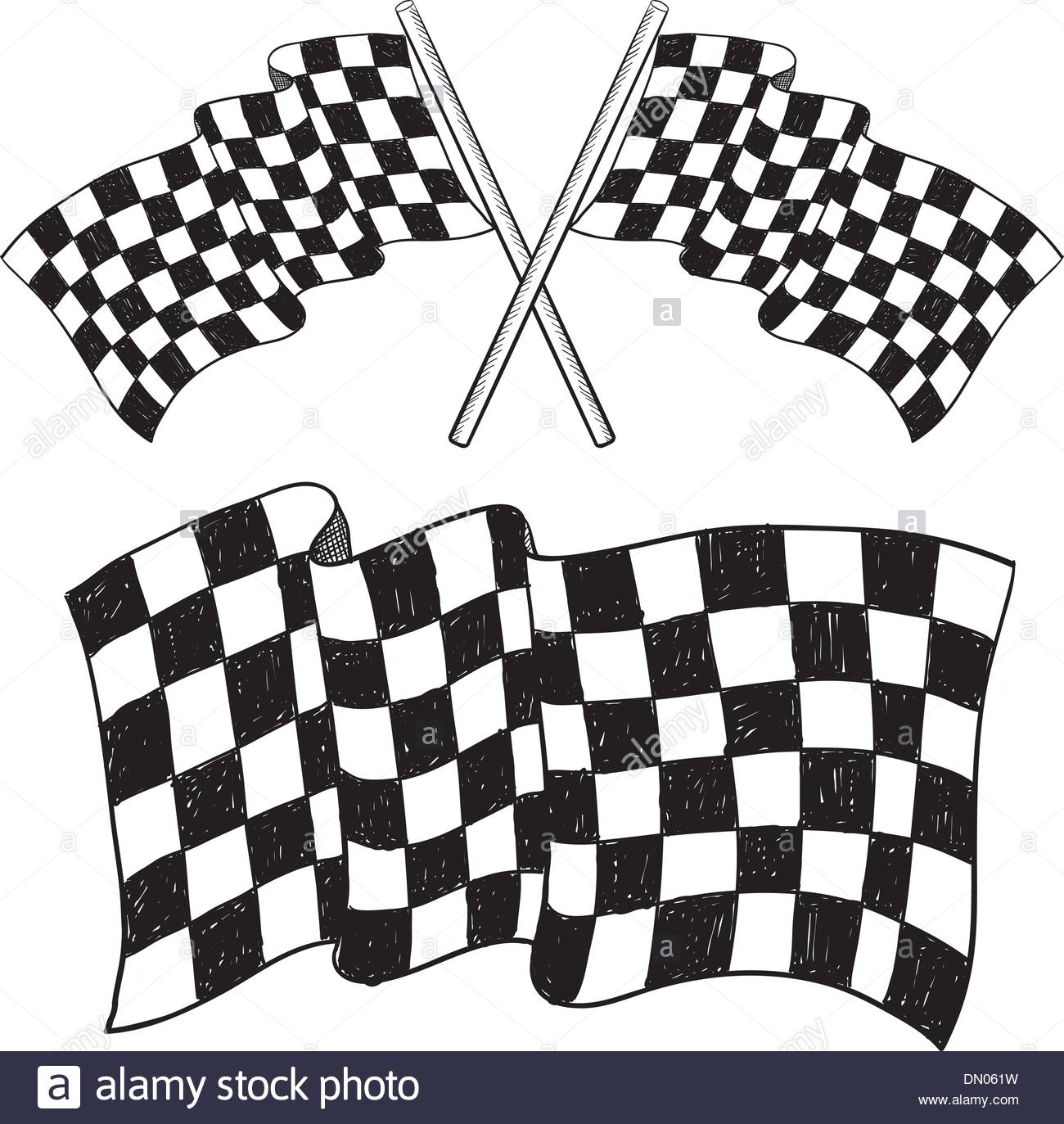 1300x1373 Checkered Flag Sketch Stock Photos Amp Checkered Flag Sketch Stock