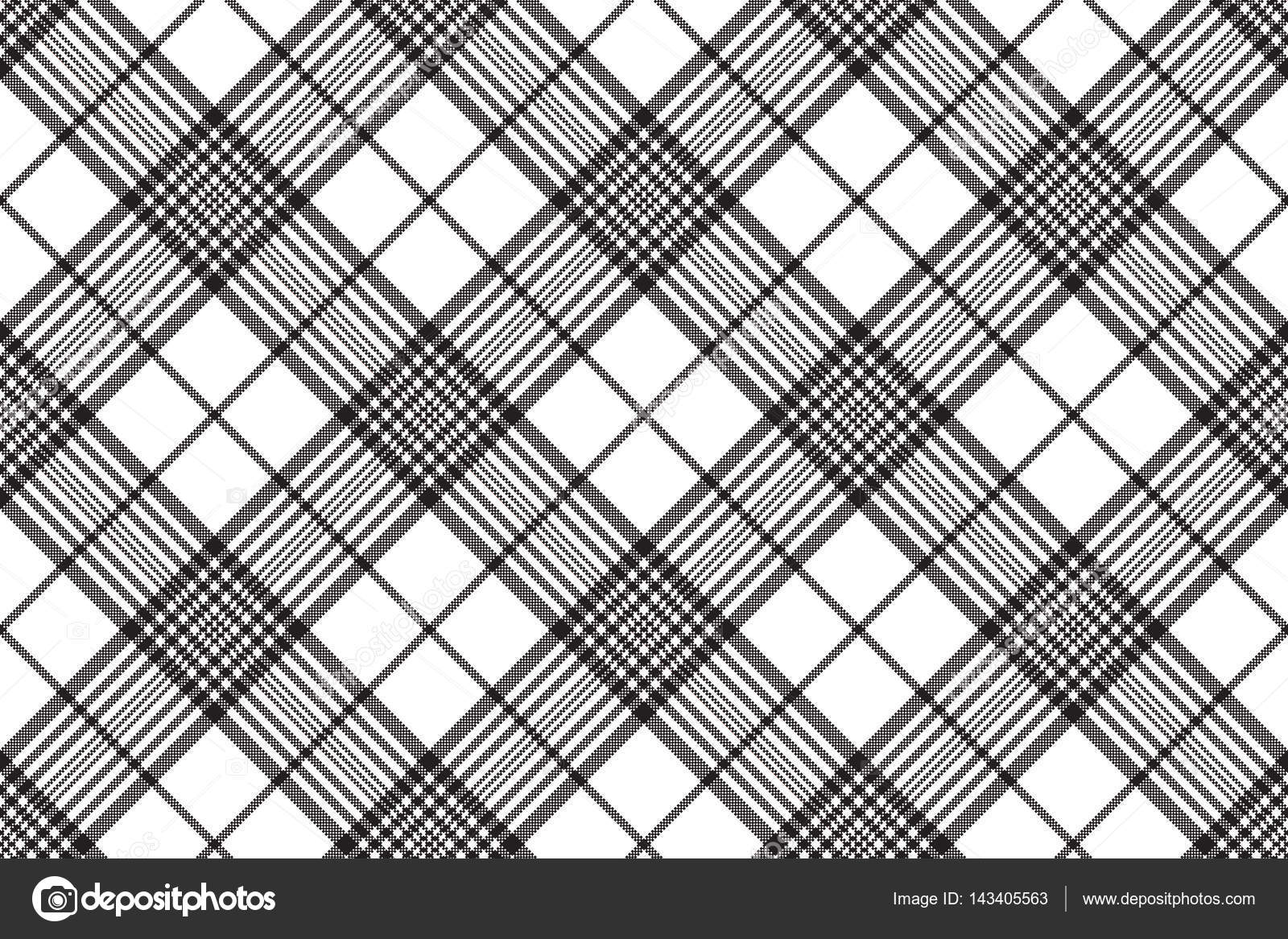 1600x1166 Pixels Black And White Check Plaid Seamless Pattern Stock Vector