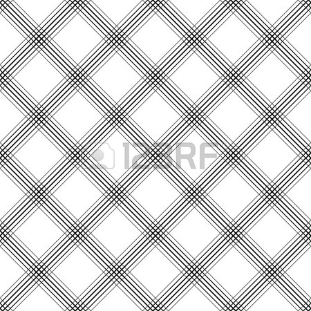 450x450 British Plaid Ornament. Abstract Diagonal Thin Line Art Pattern