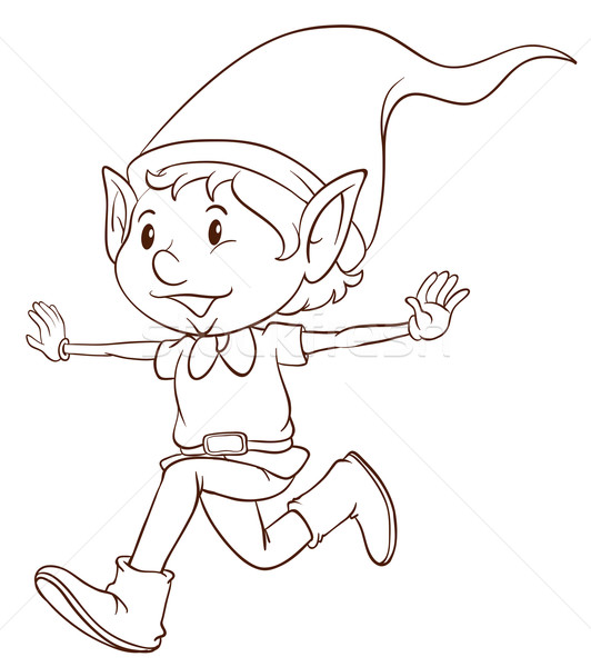 532x600 A Plain Drawing Of An Elf Vector Illustration Daniel Cole