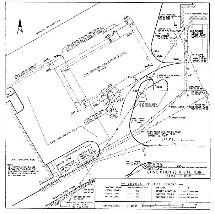 685x680 Figure 10 11. Example Of A Site Plan With Existing Utilities.