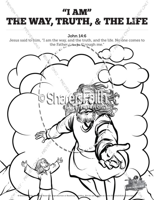 520x673 John 14 The Way The Truth And The Life Sunday School Coloring