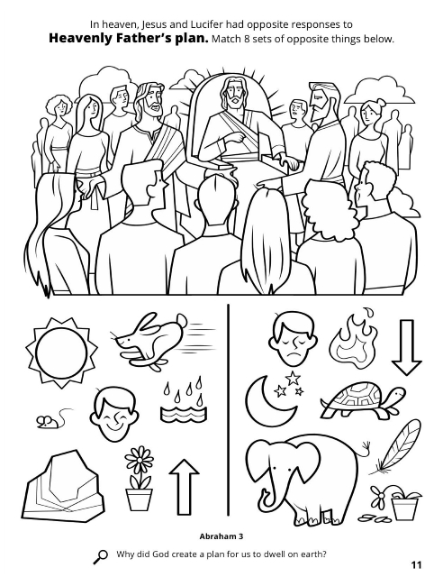 Plan of salvation drawing at free for for Lds plan of salvation coloring page