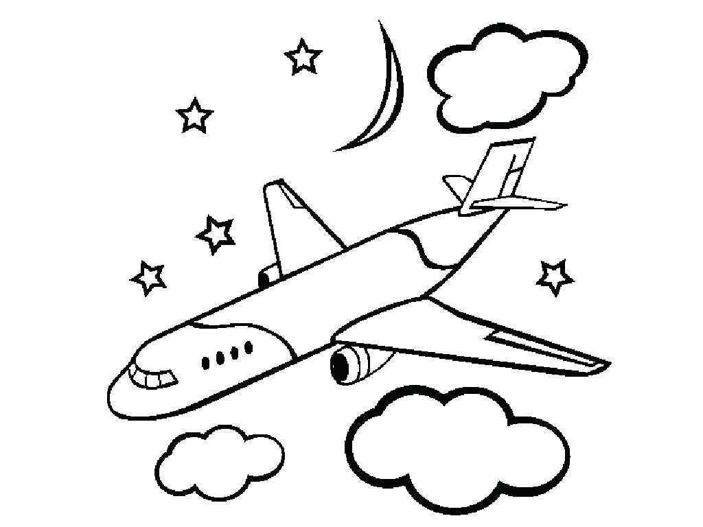 1024x768 Easy Airplane Drawing Free Printable Coloring Pages For Kids 43