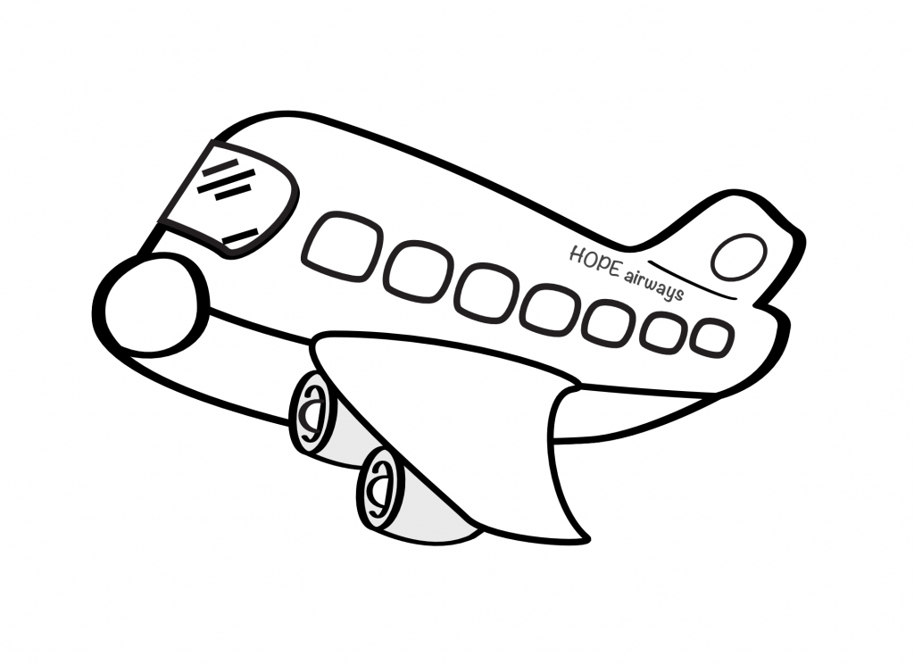 1024x745 Drawing Of An Airplane Draw A Plane Real Easy