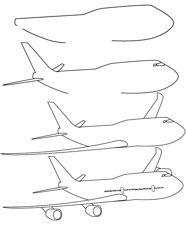 600x736 How To Draw A Fighter Plane Step 5. Learning Drawing For Children