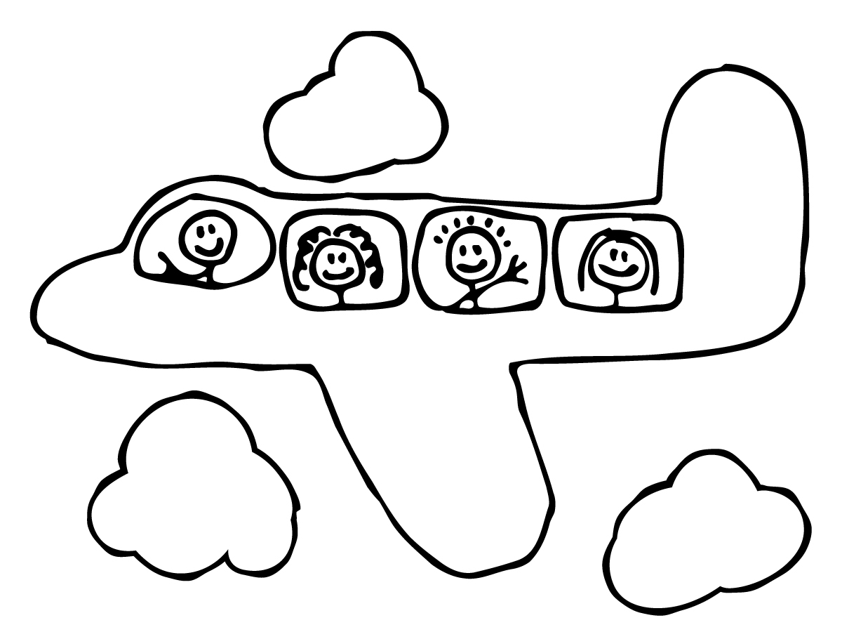 1200x900 Airplane Drawing For Kids Draw A Plane Real Easy