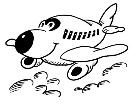 465x345 Coloring Page Of A Happy Little Plane For Kids