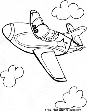 285x364 Print Out Jet Airplane Coloring Pages For Kidsfree Printable