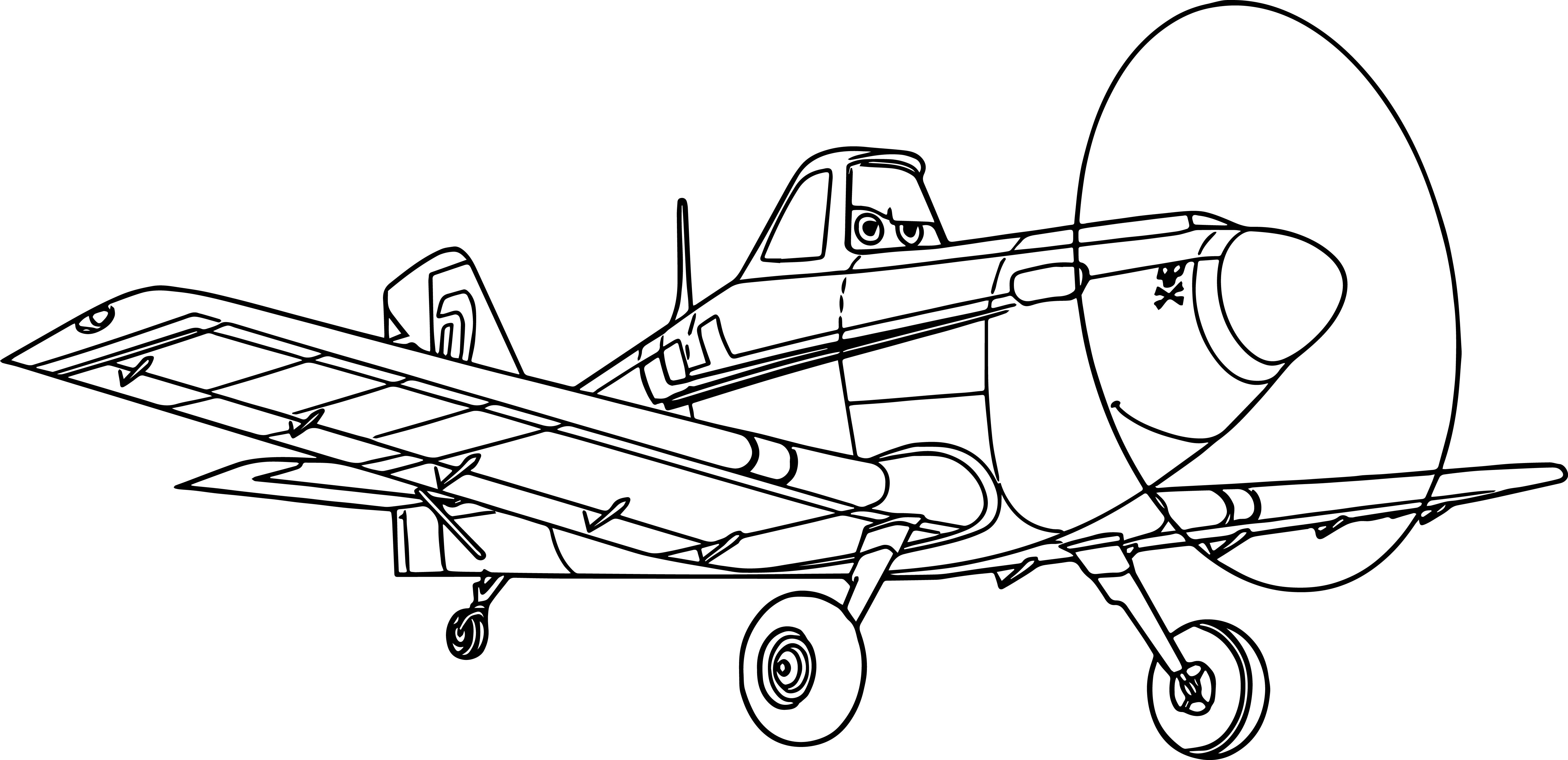 5654x2741 Plane Dusty Coloring Pages For Kids New Perfect Ideas Plane