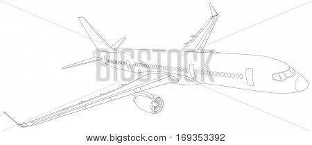 450x209 Commercial Plane Outline Flying Vector Amp Photo Bigstock