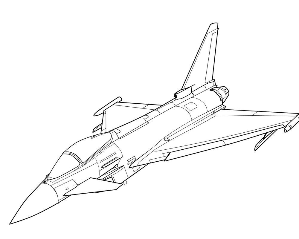 1000x800 Euro Fighter Typhoon (Linework) By Oleedueolo