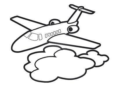 400x298 Fancy Cartoon Drawing Of Airplane Airplane Outline Cliparts