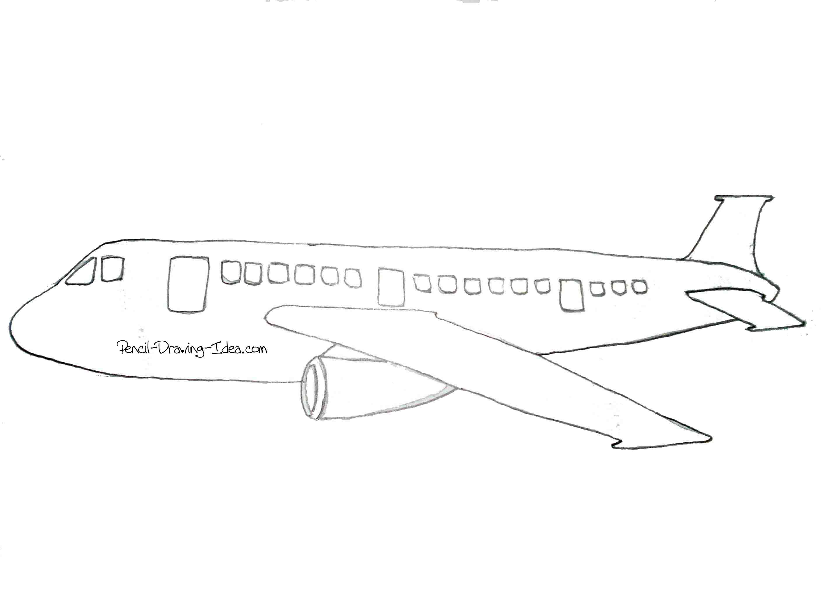 It's just a photo of Impertinent Easy Airplane Drawing