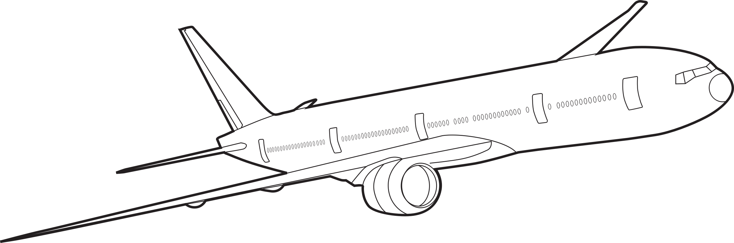 Plane Outline Drawing At Getdrawings Com Free For