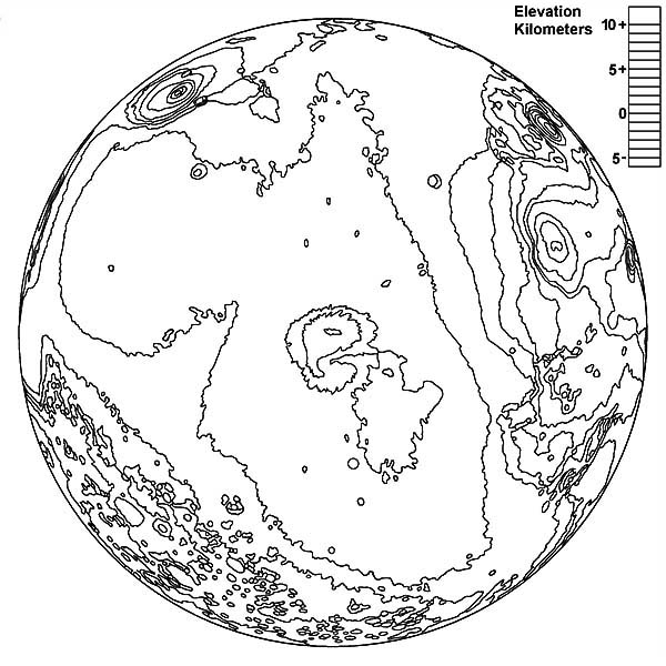 600x600 Mars The Fourt Planet In Solar System Planet Coloring Pages