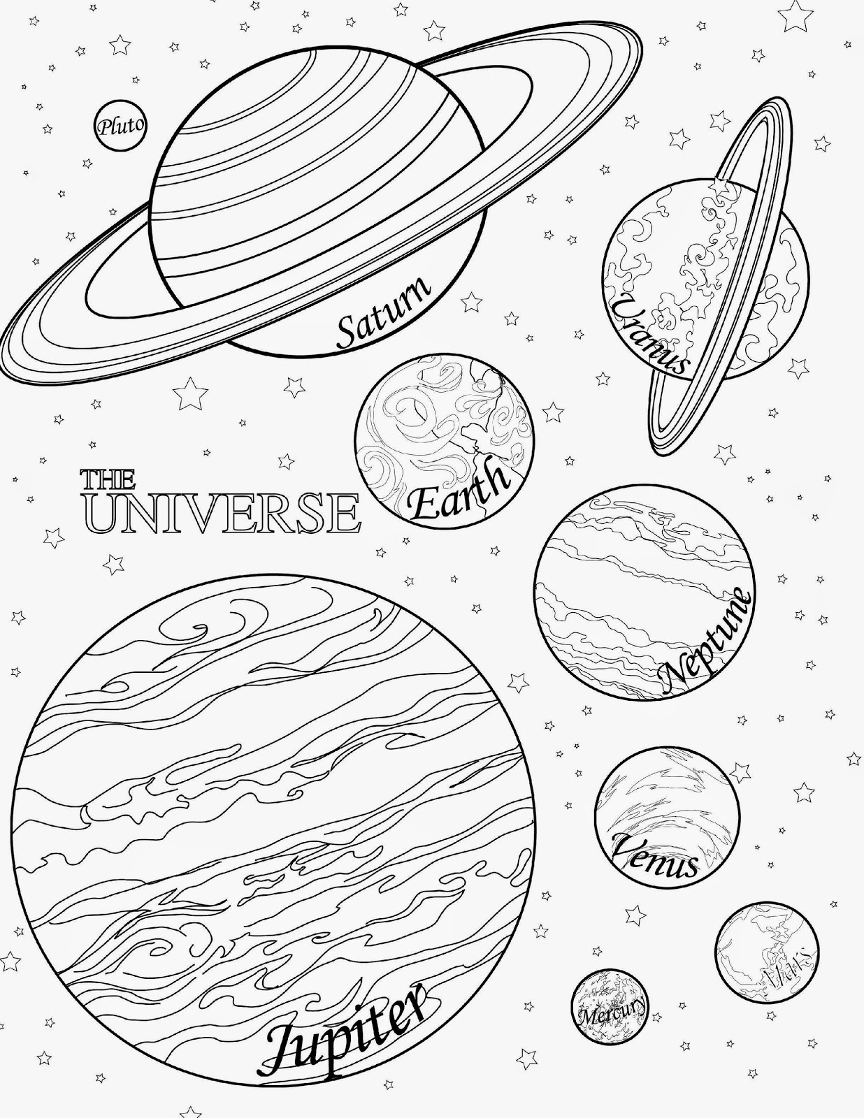 Planet Line Drawing at GetDrawings.com   Free for personal use ...
