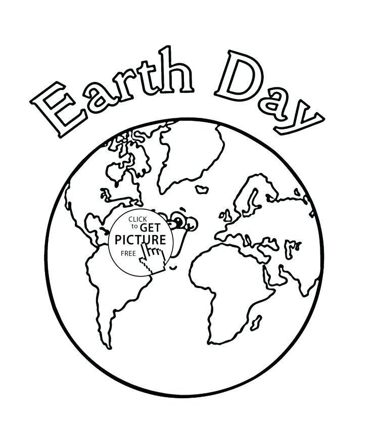 736x841 Coloring Page Of The Earth Coloring Page Of Earth Earth Day