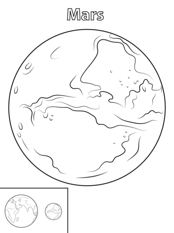 358x480 Mars Planet Coloring Page Free Printable Coloring Pages