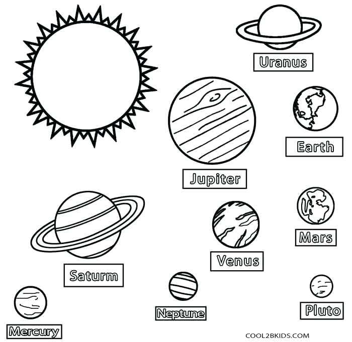 700x681 Planets Coloring Pages Space Planets Coloring Pages Inner Planets