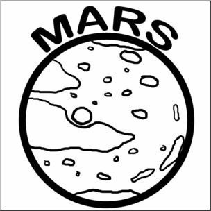304x304 Clip Art Planets Mars Bampw I Abcteach
