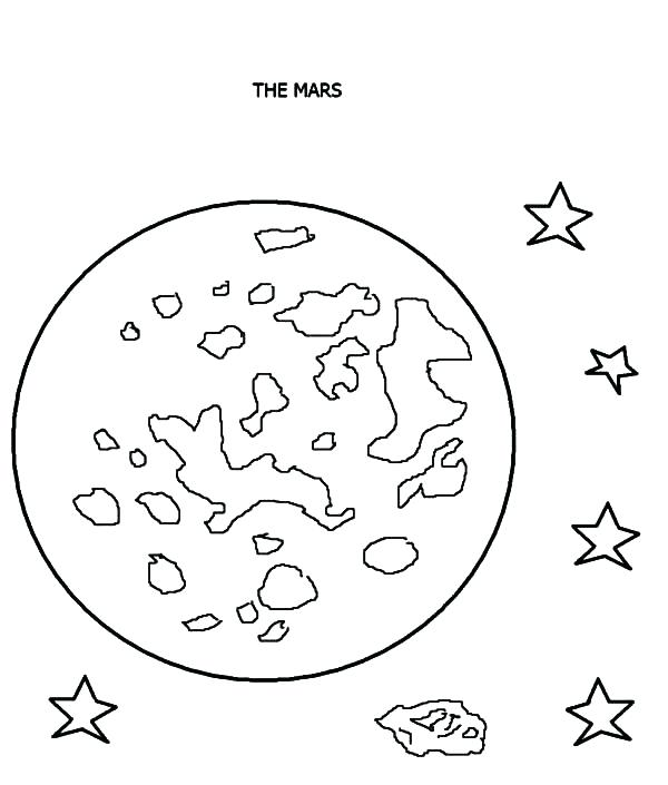 600x705 Planets Coloring Pages Mars Planet Coloring Pages Outer Planets