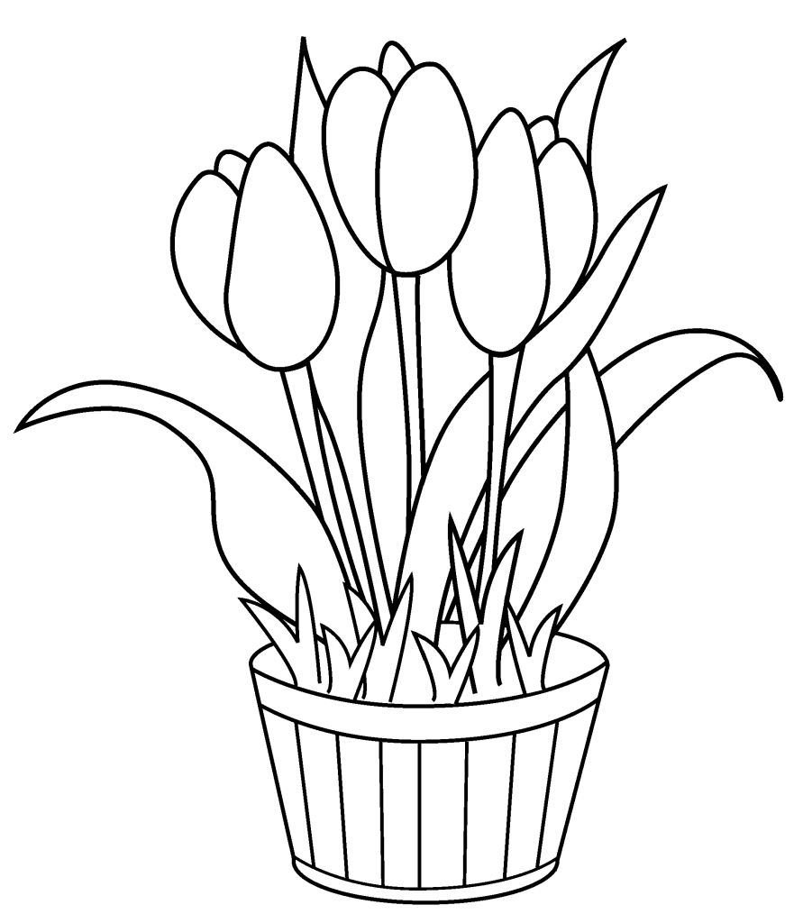 891x1024 free printable tulip coloring pages for kids