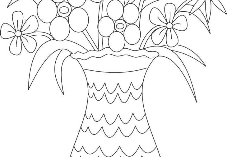 780x520 Easy Flower Pot Pencil Sketch Drawing Of Sketch, Flower Pot