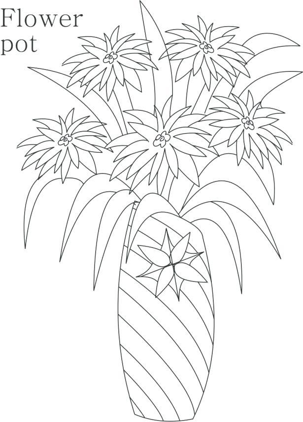615x856 Flower Pot Coloring Pages Download Coloring Pages Flower Pot