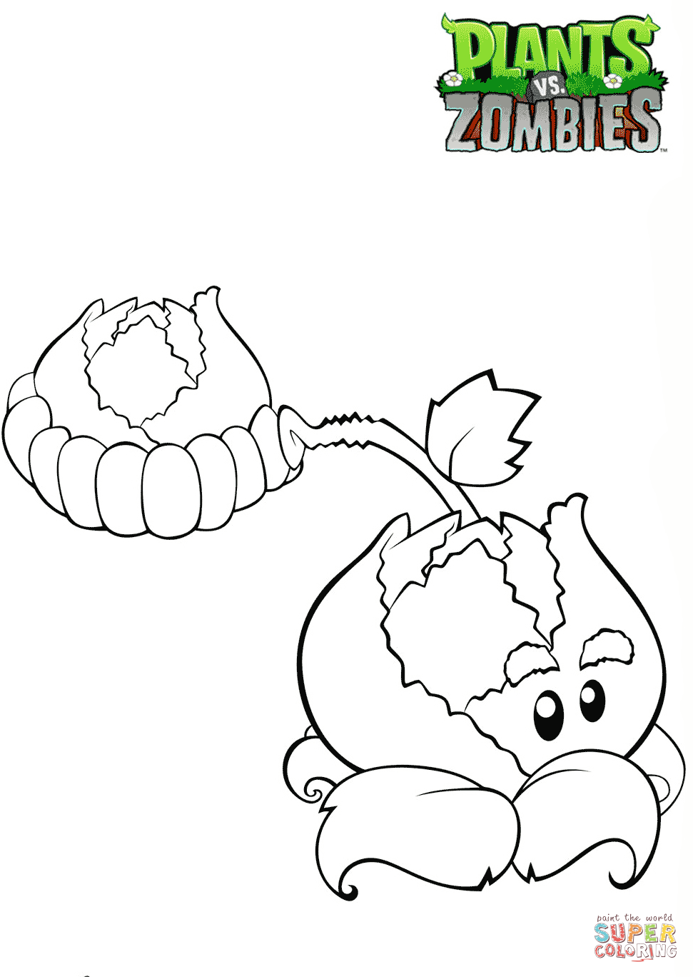 971x1368 Plants Vs. Zombies Cabbage Pult Coloring Page Free Printable