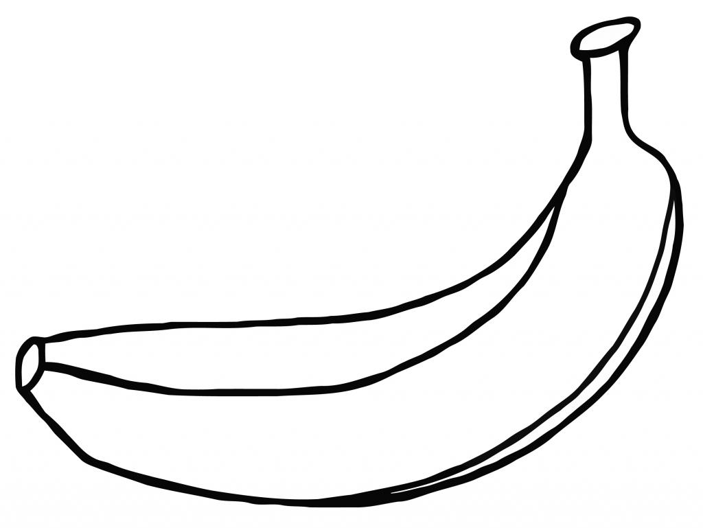 1024x769 Banana Drawing