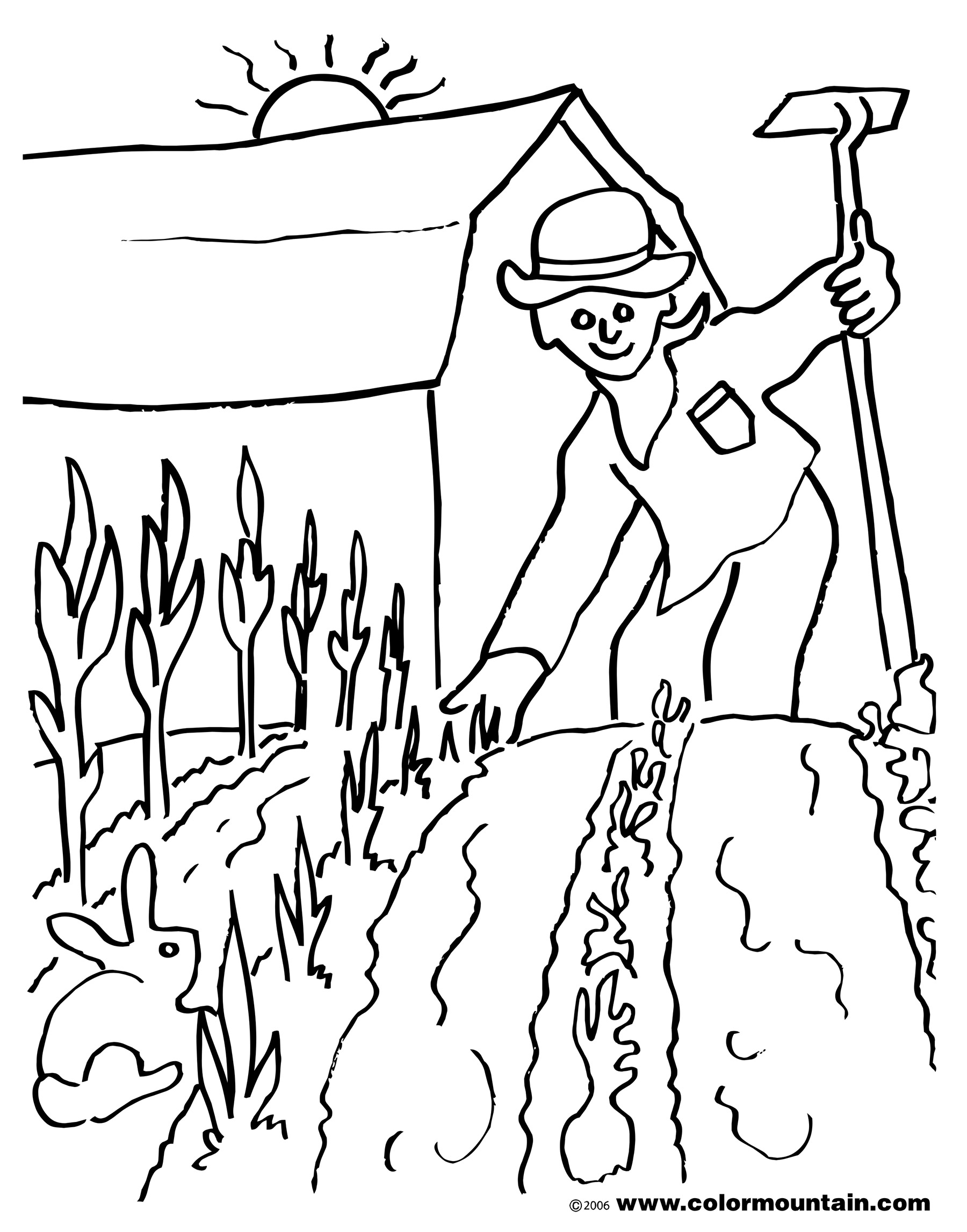 1800x2294 Gardener 1000x1020 Girl Planting Flowers In The Garden Gardening Coloring Pages