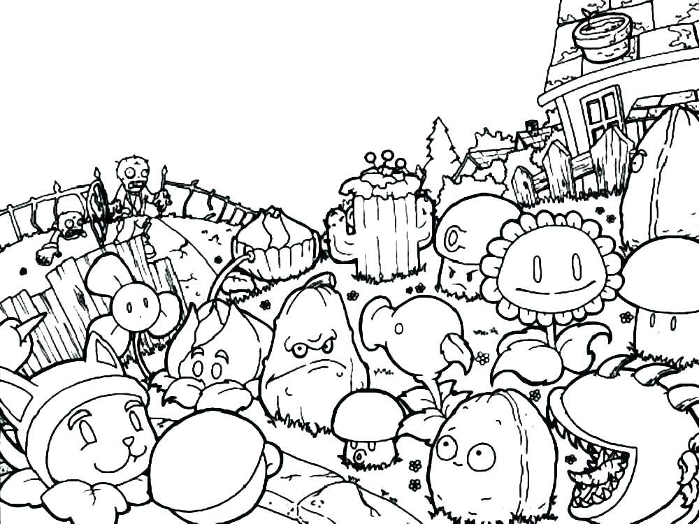 Verrassend Plants Vs Zombies Drawing at GetDrawings | Free download ZE-98