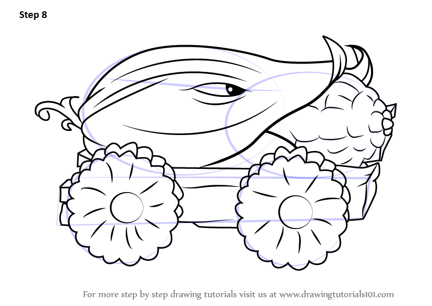 843x596 Learn How To Draw Cob Cannon From Plants Vs. Zombies (Plants Vs
