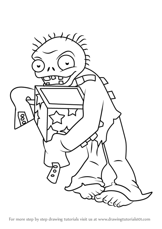 565x800 Learn How To Draw Jack In The Box Zombie From Plants Vs. Zombies
