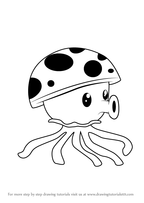 596x843 Learn How To Draw Sea Shroom From Plants Vs. Zombies (Plants Vs