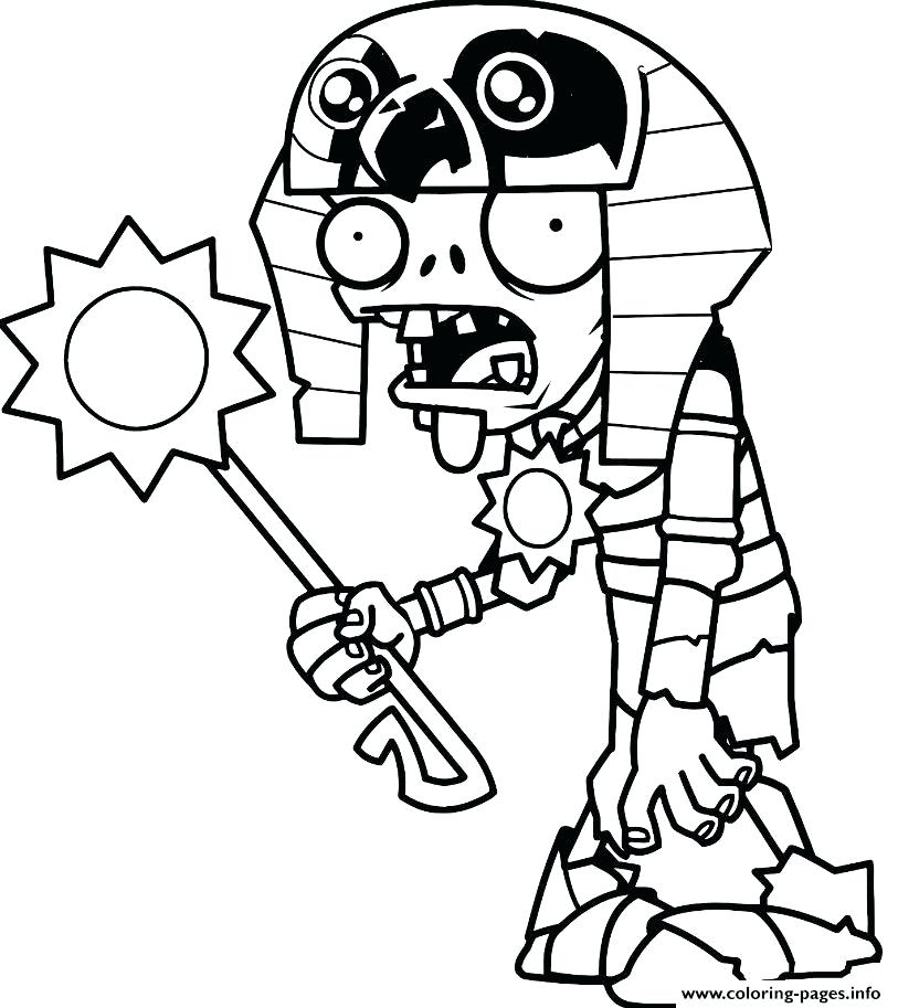 813x913 Plants Vs Zombies Coloring Pages 18 Packed With Plants Vs Zombies