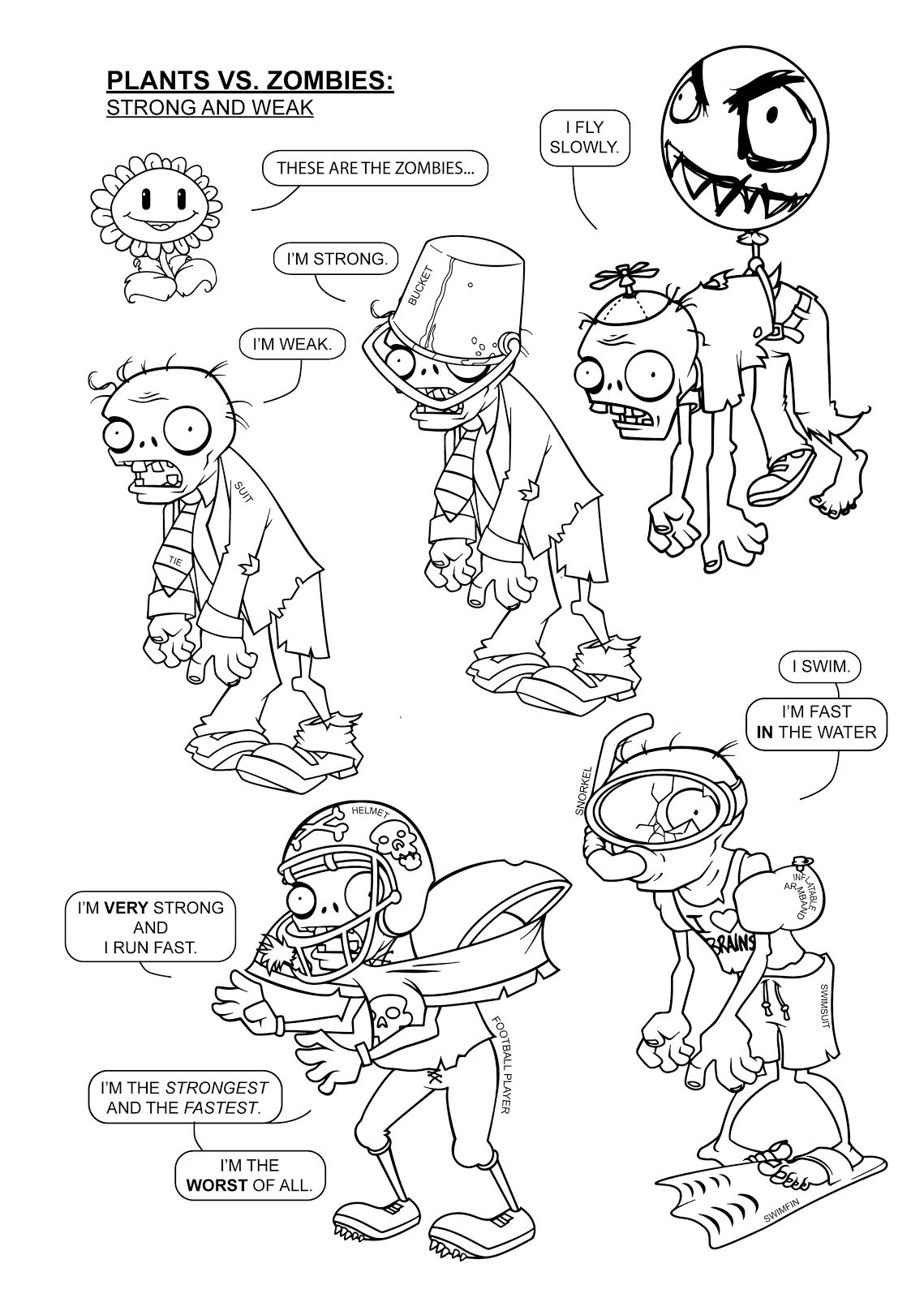 1139x1600 Plants Vs Zombies Coloring Pages Coloring Pages For Learning