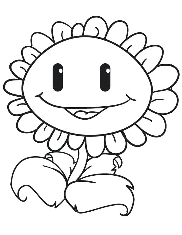 600x776 Entertaining Plants Vs Zombies Coloring Pages Online Sunflower