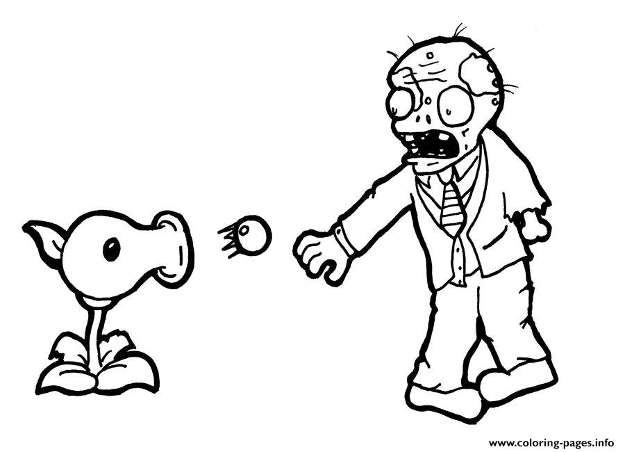 900x650 Plants Vs Zombies Shoot Coloring Pages For Kids Free Free