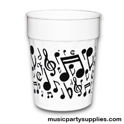 400x400 Music Gifts Notes Music Notes Plastic Cup, Drinking Cups