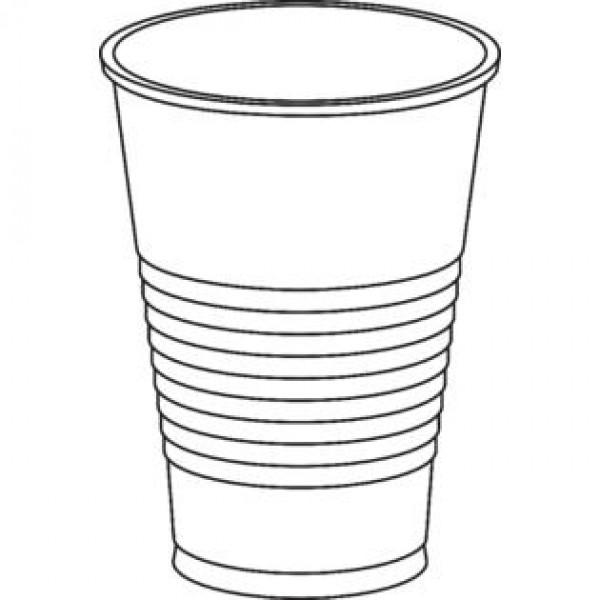 600x600 Oz Clear Plastic Dart Solo Cup