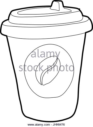396x540 Plastic Cup Coffee Portable Line Stock Photos Amp Plastic Cup Coffee
