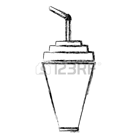 450x450 Soda Plastic Cup Icon Vector Illustration Graphic Design Royalty