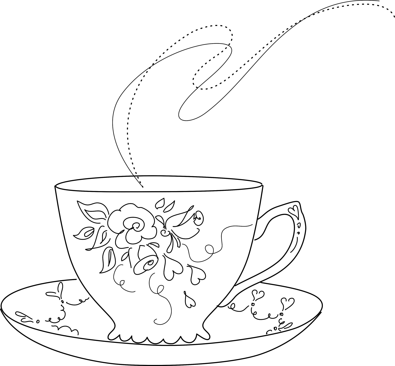 3000x2775 Sweet Little Tea Cup And Saucer. Stitcheries