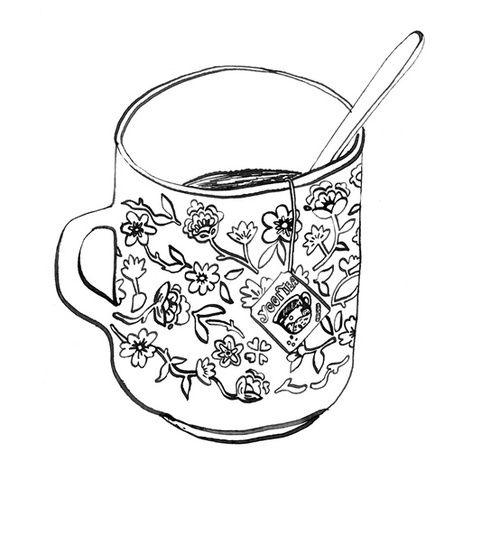 500x535 Best Drawing Cup Ideas On Tea Cup Drawing, Kawaii