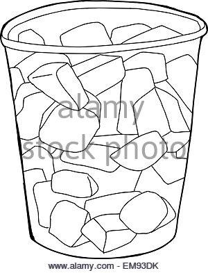 300x393 Cartoon Of Single Plastic Cup Of Cut Pineapple Chunks Stock Photo